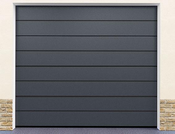 Sekční garážová vrata řady G-door, model satin grey