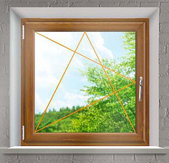 Plastové okno Rako, jednokřídlé zlatý dub