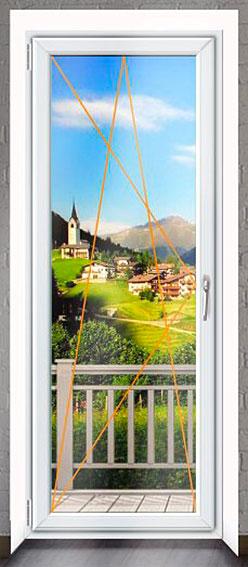 Balkonové dveře Rako, dekor bílá