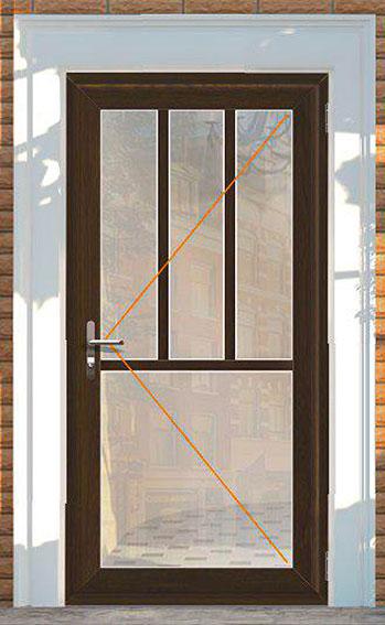 Vchodové dveře Rako, dekor zlatý dub