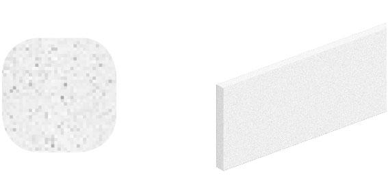 Horní vodící kolejnice ocel, Roc Design 1950 mm se 4 distančními podložkami, bílá, balení tuba