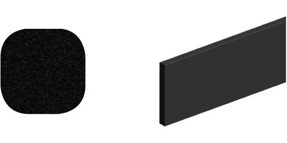 Horní vodící kolejnice ocel, Roc Design 1950 mm se 4 distančními podložkami, černá, balení tuba