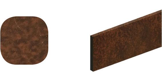 Horní vodící kolejnice ocel, Roc Design 1950 mm se 4 distančními podložkami, koroze natur, balení tuba