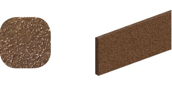 Horní vodící kolejnice ocel, Roc Design 1950 mm se 4 distančními podložkami, rezavá bronz, balení tuba