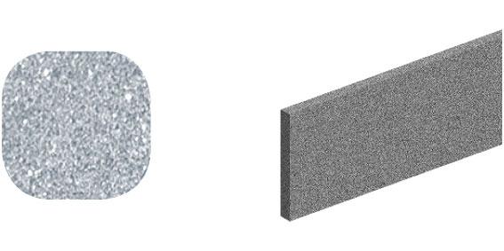 Horní vodící kolejnice ocel, Roc Design 1950 mm se 4 distančními podložkami, šedá, balení tuba
