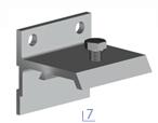 Sada nástěnných klamer pro dveře o tloušťce 25 mm