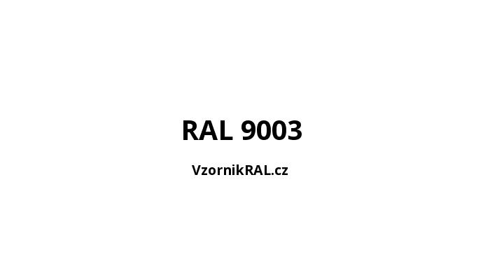 bílé (RAL 9003)