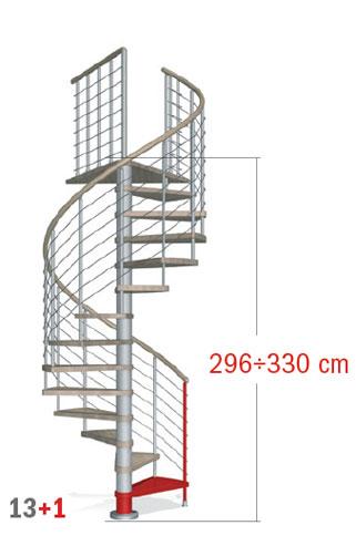 296 - 330 cm