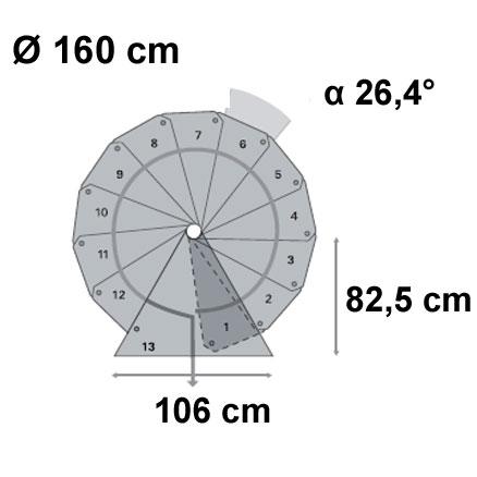 průměr 160 cm