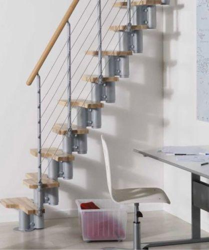 Přímé schodiště KYA výška 228 - 282 cm