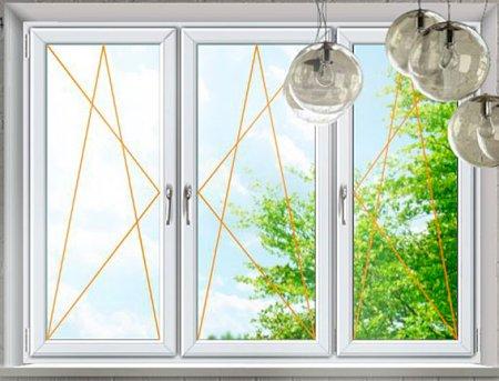 Plastové okno Rako, Trojkřídlé bílé