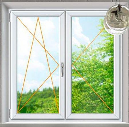Plastové okno Rako, dvoukřídlé bílá