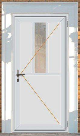 Vchodové dveře Rako, dekor bílá